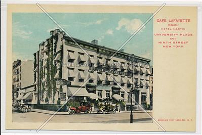 Café Lafayette, Unversity Pl & 9 St, NYC (formerly Hotel Martin)