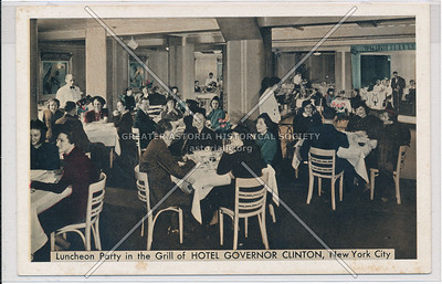 Luncheon Party in the Grill of Hotel Governor Clinton, NYC