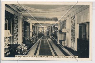Lobby, Madison Square Hotel, 37 Madison Ave. NY