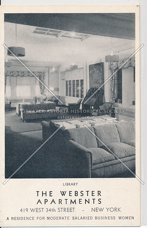Library, The Webster Apartments, 419 W 34th St, New York