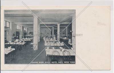 Dining Room, Mills Hotel #1 - Bleecker, Sullivan & Thompson, NYC