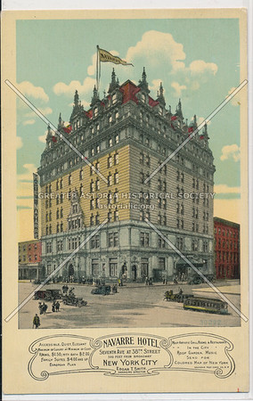 Navarre Hotel, 7th Ave at 38th St., New York City