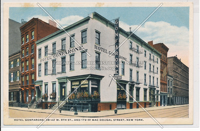 Hotel Confarone, 38 W 8 St & 179 MacDougal St, NYC