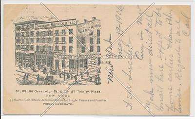 61, 63, 65 Greenwich St. & 22-24 Trinity Place, NY