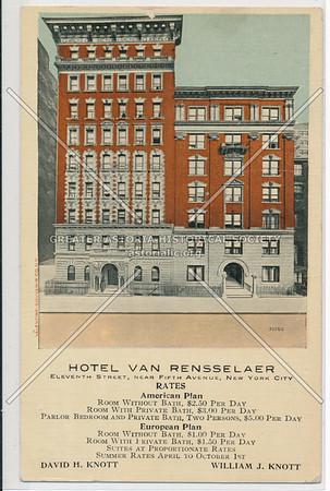 Hotel Van Rensselaer, 11 St & 5 Av, NYC