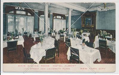 Main dining Room, Hotel Albert, 11th St. & University Place