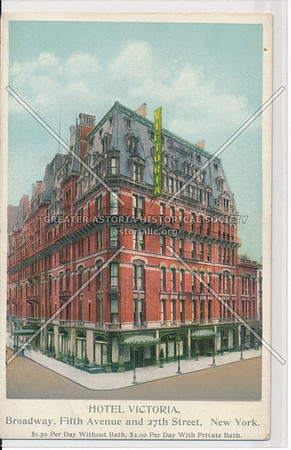 Hotel Victoria, B'way, 5th Ave & 27th St, NYC