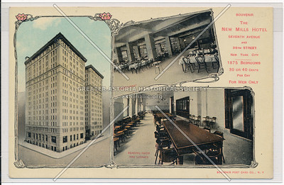 The New Mills Hotel, 7th Ave and 36th St, New York City