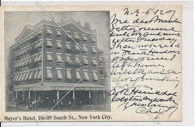 Meyer Hotel, 116 South St, NYC