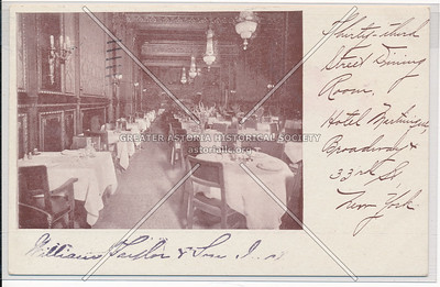 33rd Street Dining Room, Hotel Martinique, B'way, 32nd and 33rd Sts., New York City