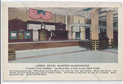 Lobby, Hotel Martha Washington, 29 E 29th St., One Block E of 5th Ave., NY