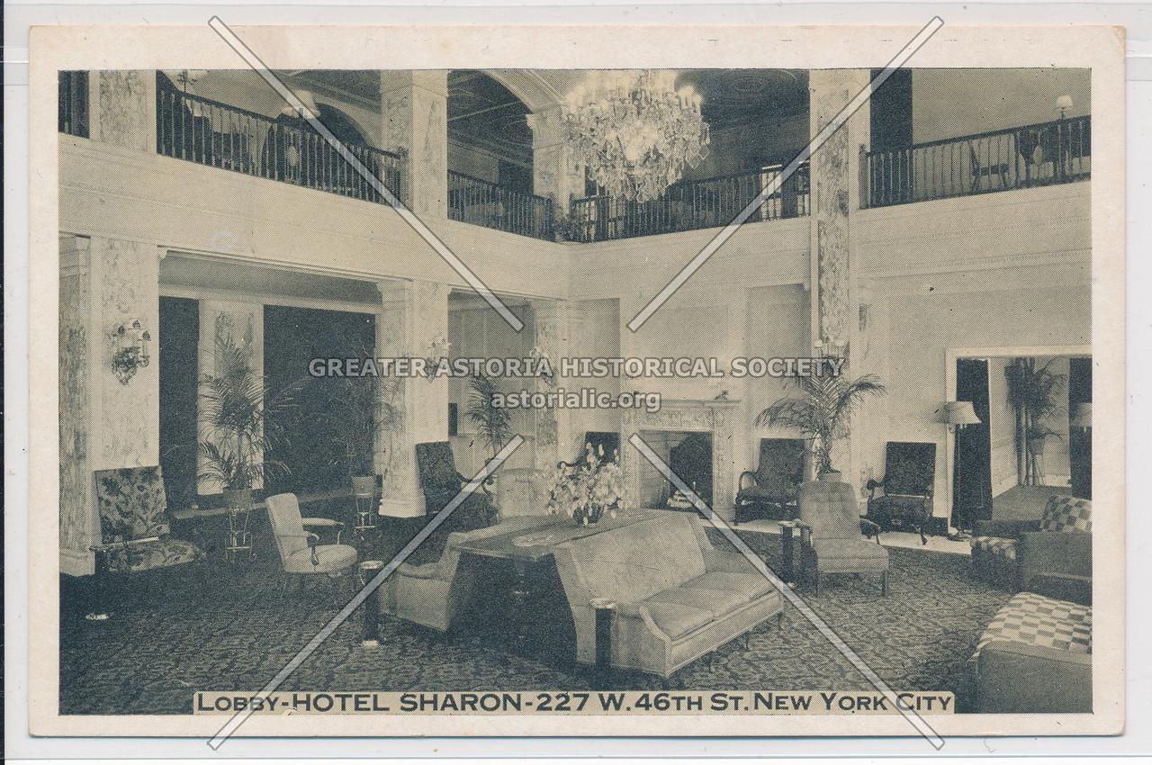 Lobby-Hotel Sharon- 227 W. 46th St., New York City