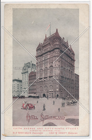 Hotel Netherland, Fifth Avenue And Fifty-Ninth Street, New York