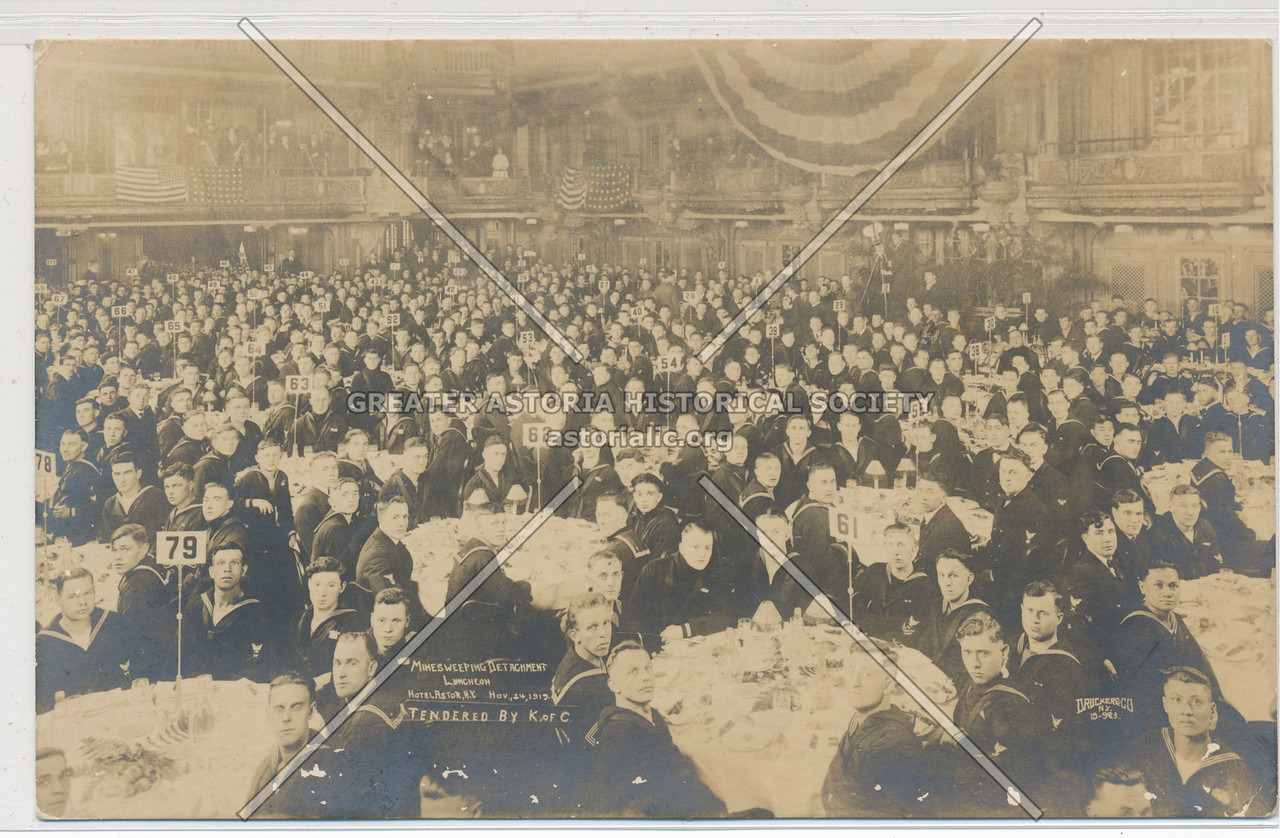 Banquet for Minesweepers by K of C, Hotel Astor (1917)