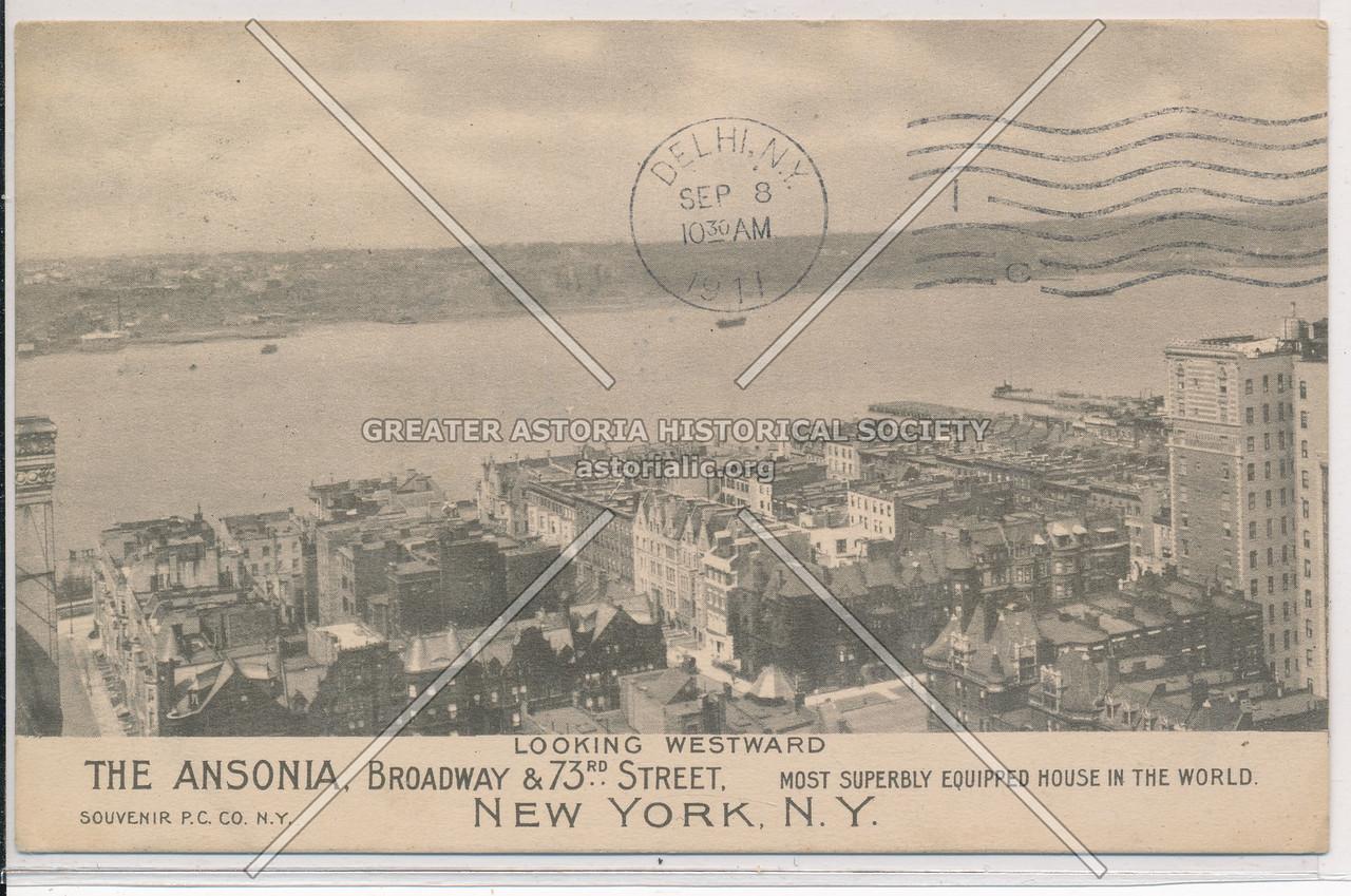 The Ansonia, Looking Westward, Broadway & 73rd Street, New York, N.Y.