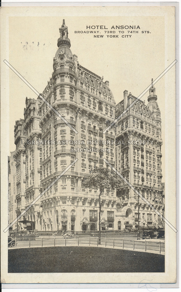 Hotel Ansonia, Broadway, 73rd to 74th Sts., New York City