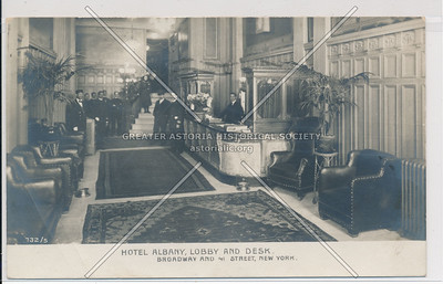 Hotel Albany, Lobby And Desk, Broadway And 41 Street, New York