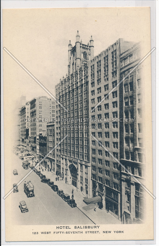 Hotel Salisbury, 123 West Fifty-Seventh Street, New York