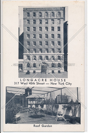 Longacre House and Roof Garden, 317 W 45th S, NYC