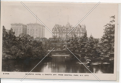 Majestic Hotel & Dakota Apt. From Central Park, N.Y. City