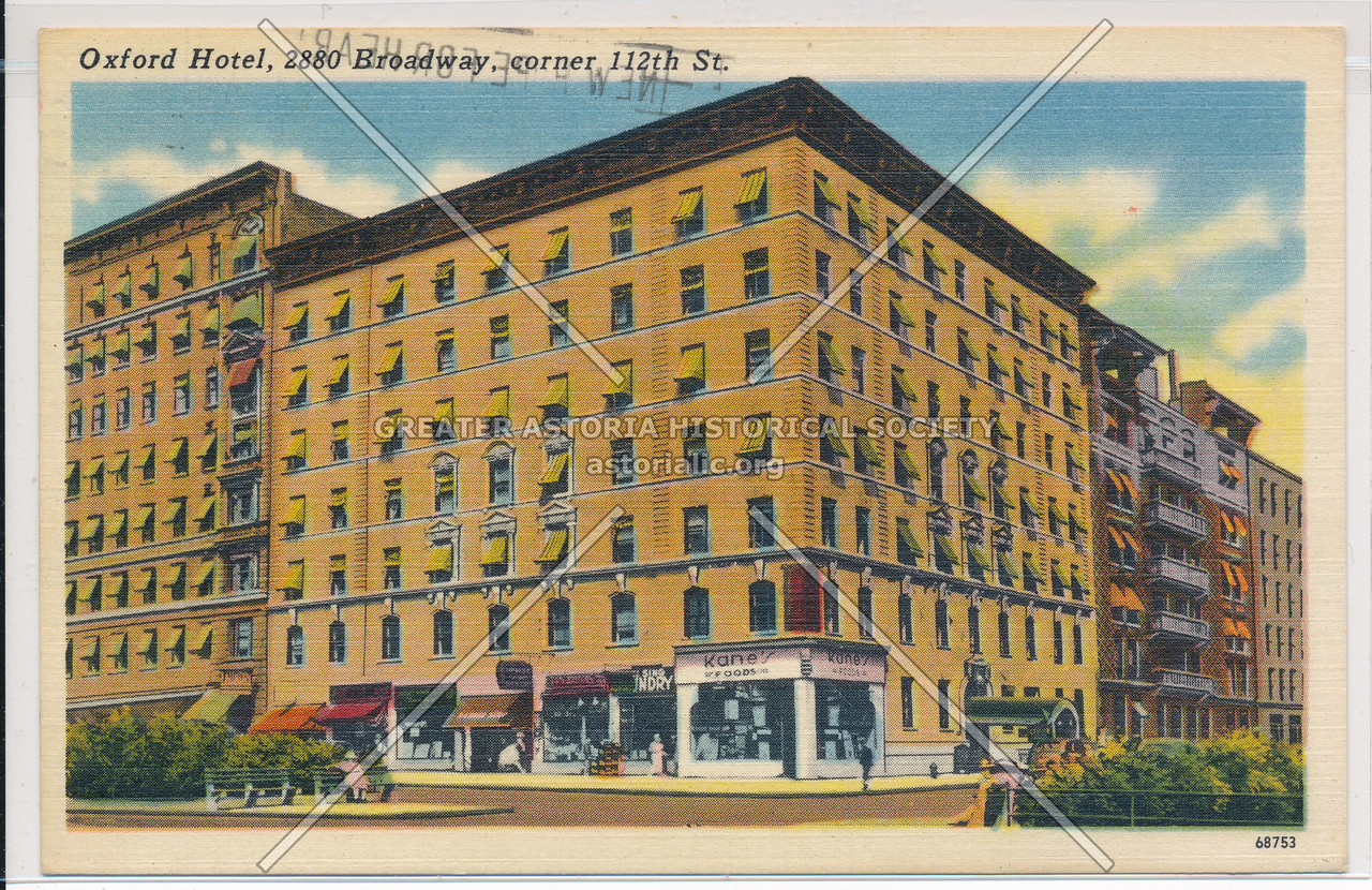 Oxford Hotel, 2880 Broadway, corner 112th St.