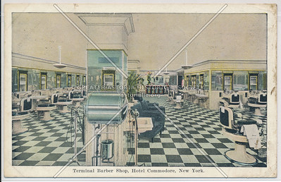 Terminal Barber Shop, Hotel Commodore, Grand Central Terminal, NYC