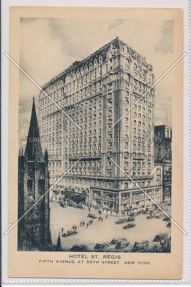 Hotel St. Regis, 5th Avenue at 55th St., NYC