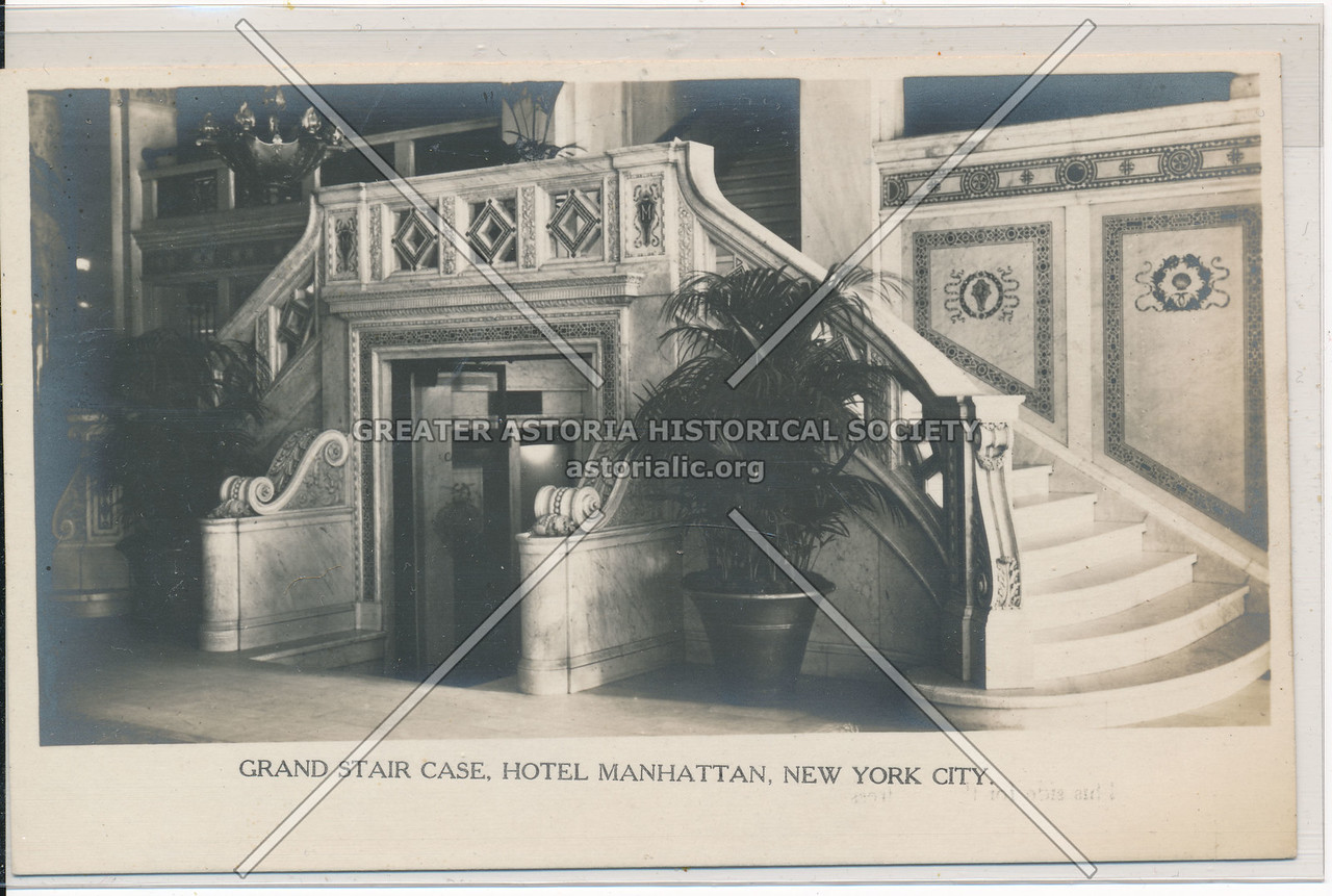 Grand Stair Case, Hotel Manhattan, Manhattan, New York City