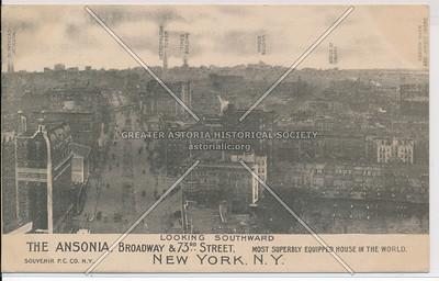 The Ansonia, Looking Southward, Broadway & 73rd Street, New York, N.Y.