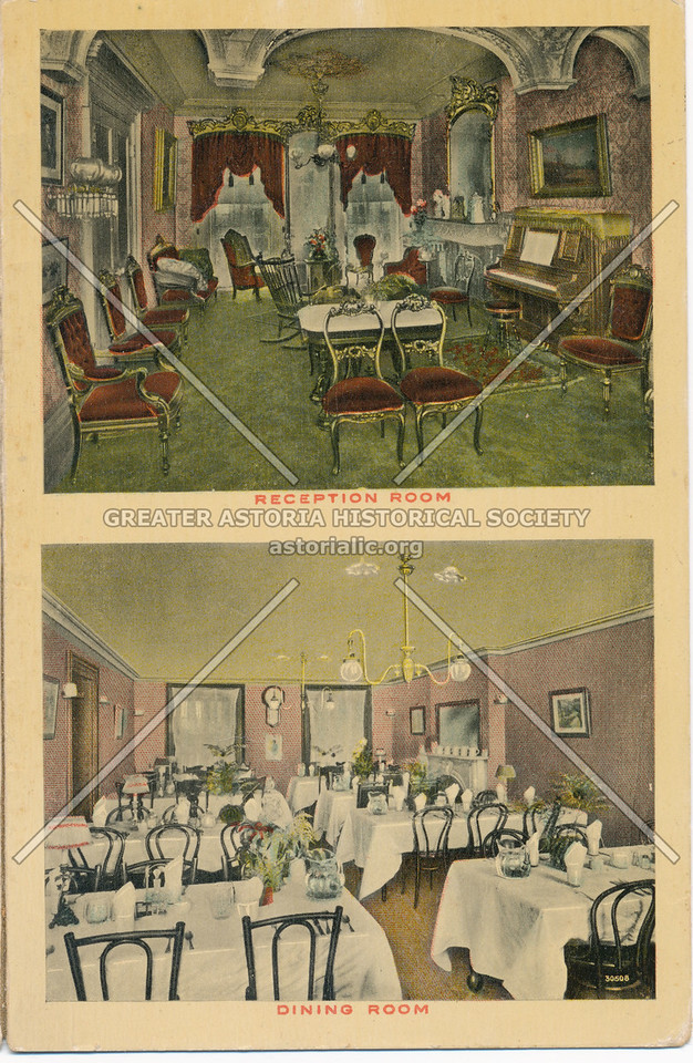 """Reception Room and Dining Room at """"The Rutherfurd,"""" New York City"""