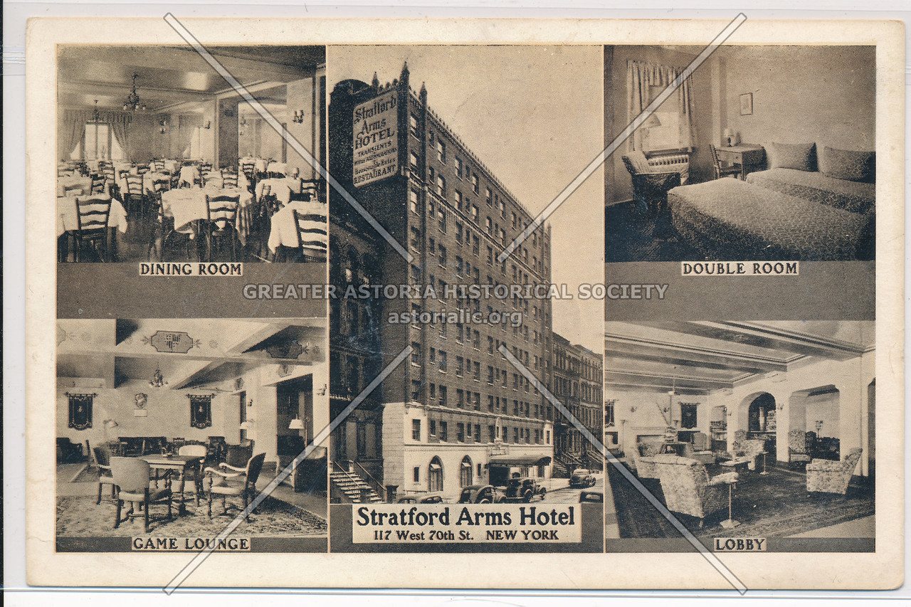 Stratford Arms Hotel, 117 West 70th St., New York