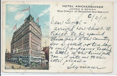 Hotel Knickerbocker, 42nd Street at Broadway, New York City