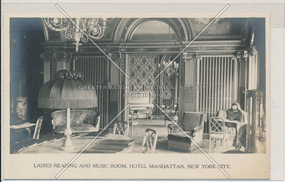 Ladies Reading And Music Room, Hotel Manhattan, Manhattan, New York City