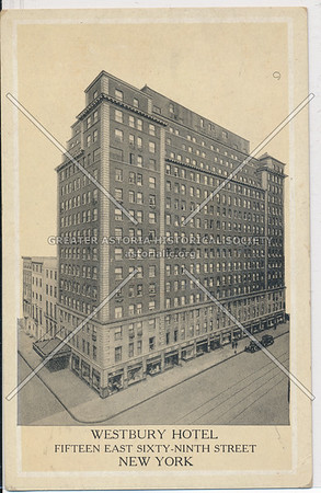 Westbury Hotel, Fifteen East Sixty-Ninth Street, New York