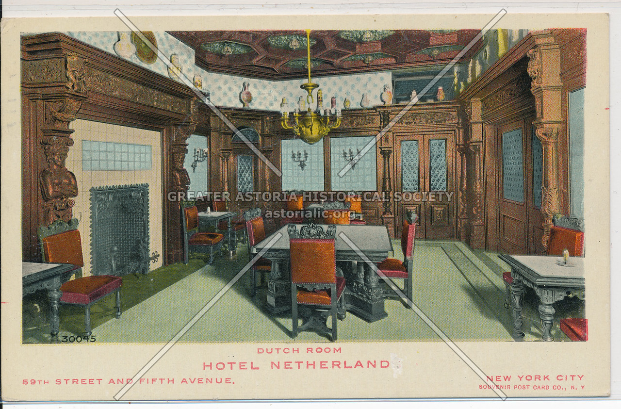 Dutch Room, Hotel Netherland, 59th Street And Fifth Avenue, New York City