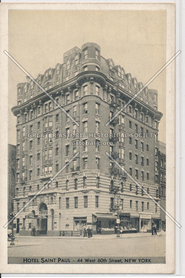 Hotel Saint Paul- 44 West 60th Street, New York
