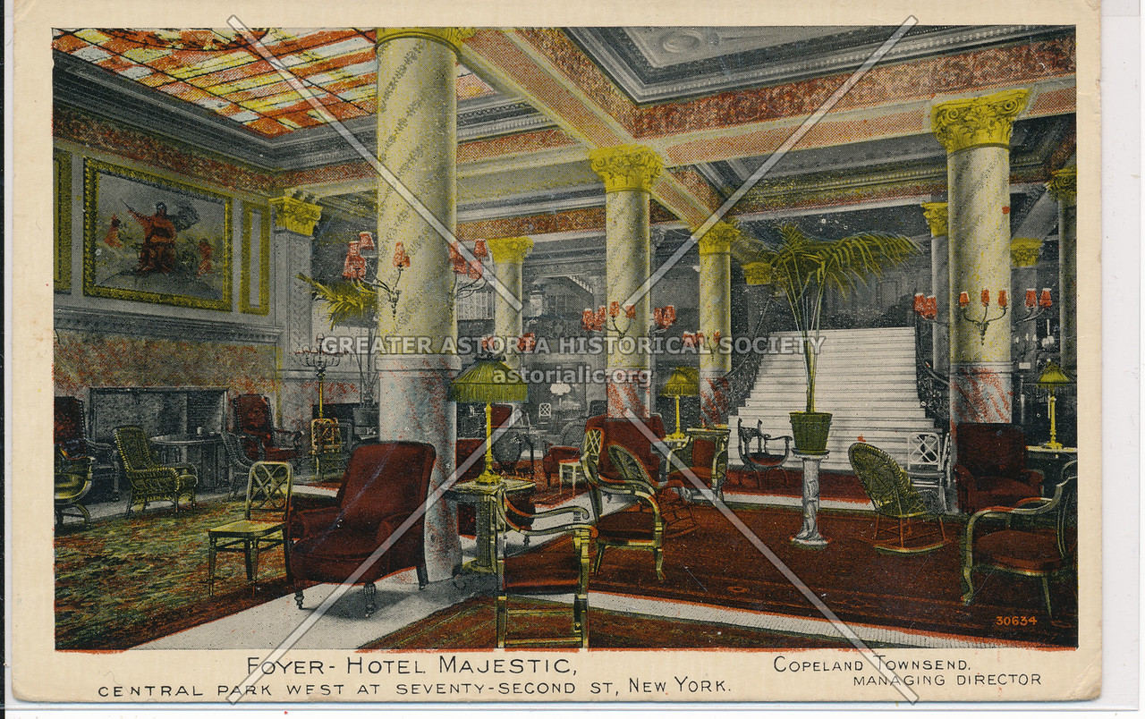 Foyer-Hotel Majestic, Central Park West At Seventy- Second St., New York