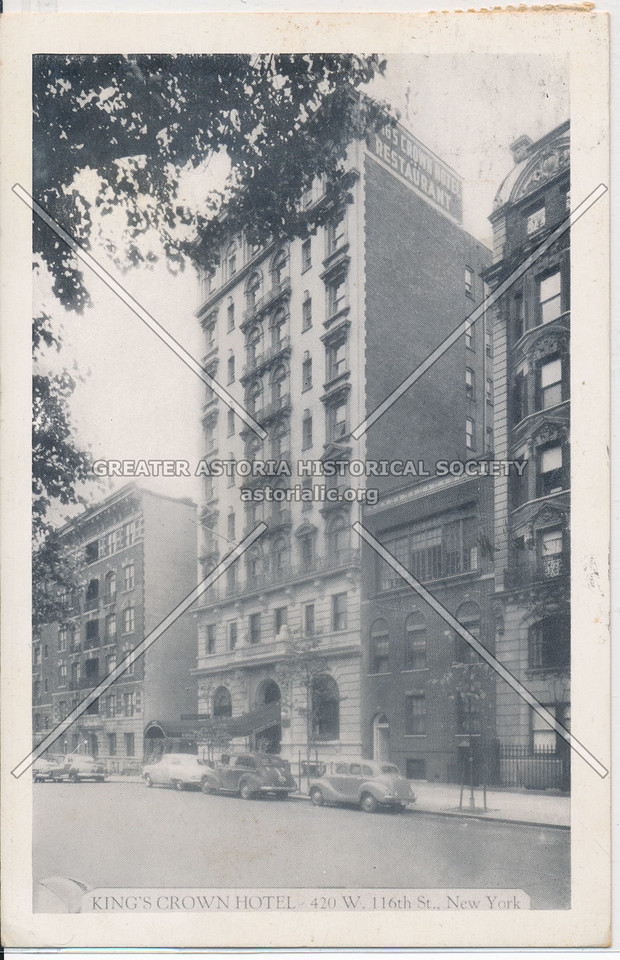 King's Crown Hotel, 42nd W. 116th St., New York