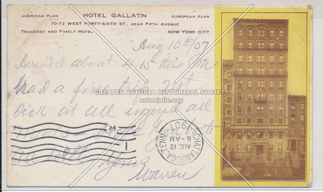 Hotel Gallatin, 70-72 W 46th St. near 5th Ave, NYC