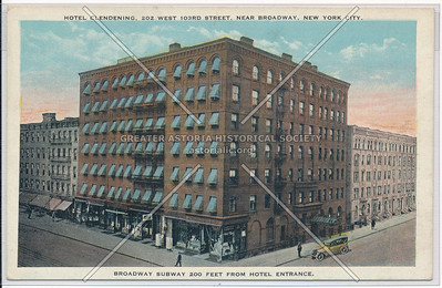 Hotel Clendening, 202 West 103rd Street, Near Broadway, New York City
