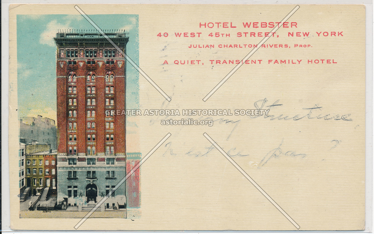 Hotel Webster, 40 West 45th St, NYC