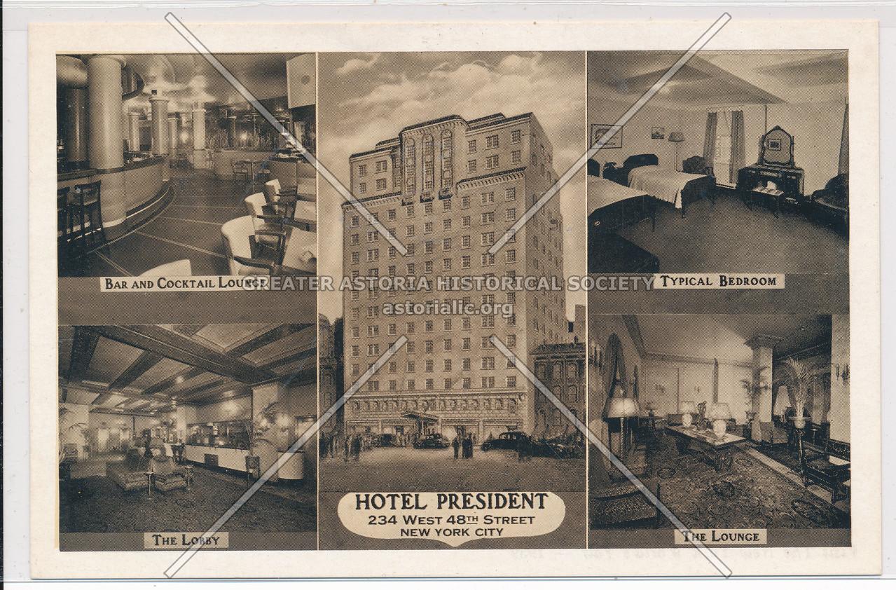 Hotel President, 234 W 48th St, NYC
