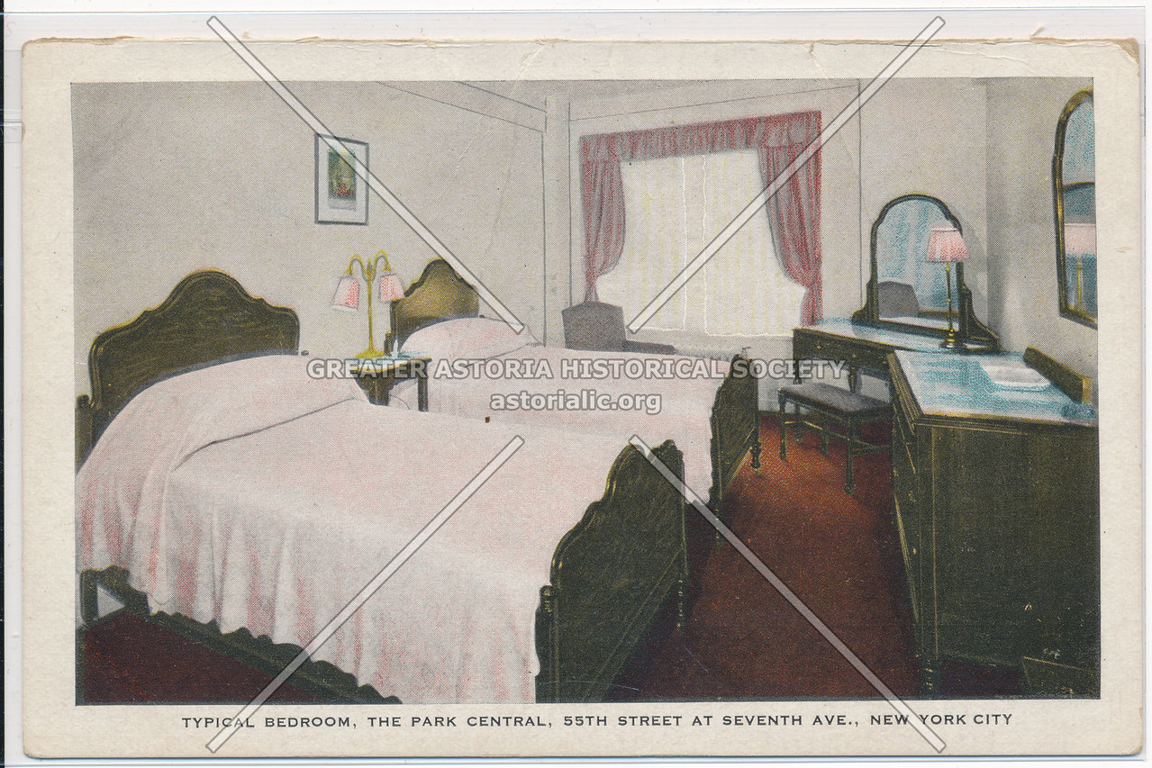 Typical Bedroom, The Park Central, 55th Street At Seventh Ave., New York City