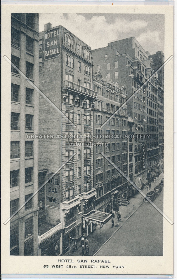 Hotel San Rafael, 65 W 45 St, NYC