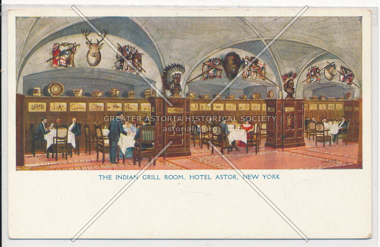 The Indian Grill Room, Hotel Astor, New York City