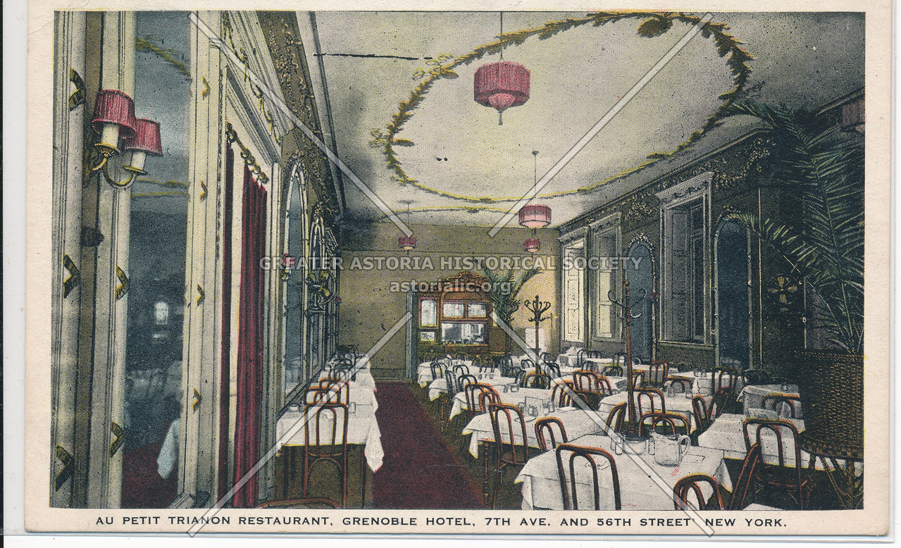 Au Petit Trianon Restaurant, Grenoble Hotel, 7th Ave. And 56th St., New York