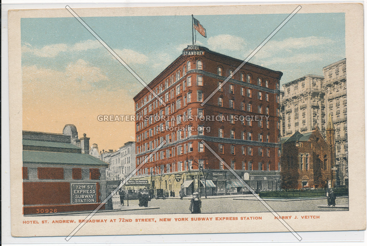 Hotel St. Andrew, Broadway At 72nd Street, New York Subway Express Station