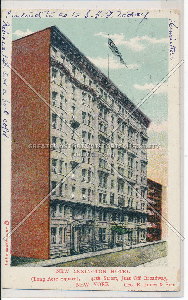 New Lexington Hotel (Long Acre Square), 47th Street, Just off Broadway, New York City