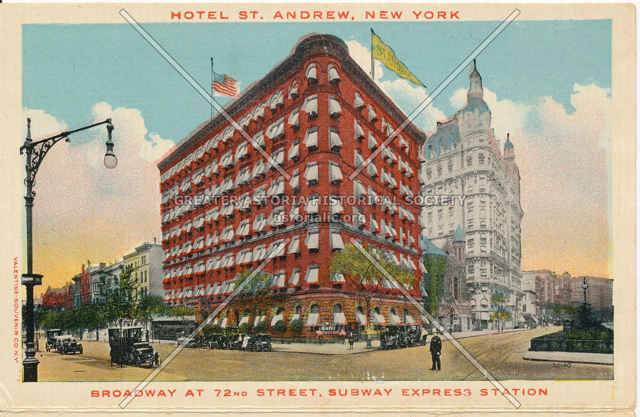 Hotel St. Andrew, New York, Broadway At 72nd Street, Subway Express Station