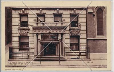 Entrance Felix-Portland, 132 West 47th St. NYC